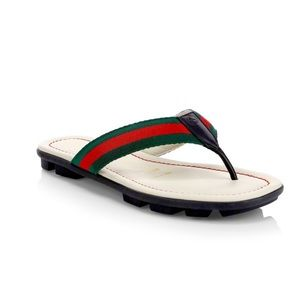Gucci Titan Web & Leather Sandals, Toddler/Kids